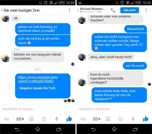 how to delete all messeges on facebook messenger on android