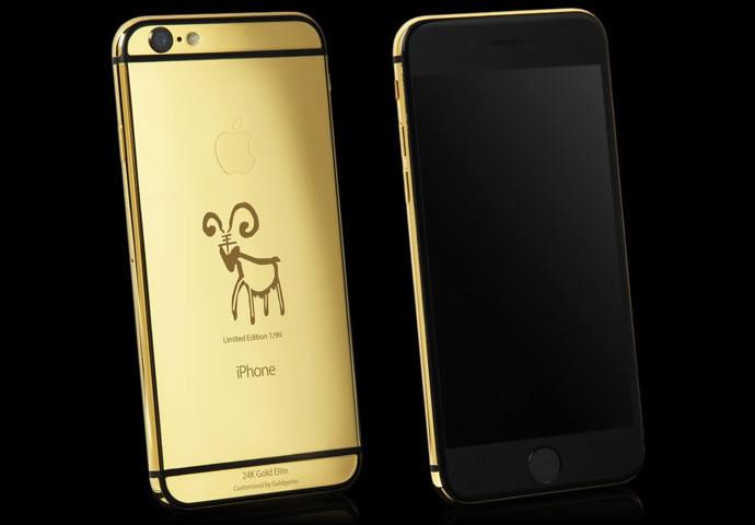 Фото   Золотой Apple iPhone 6 от Goldenie
